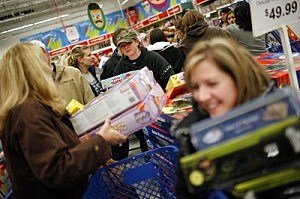 "Eager Retailers Greet Crowds Of Shoppers On ""Black Friday"""