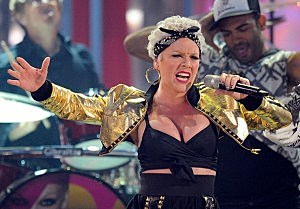 Pink at 2010 American Music Awards Show