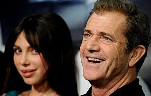 Actor Mel Gibson and Oksana Grigorieva