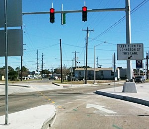 Guilbeau and Johnston left turn lane