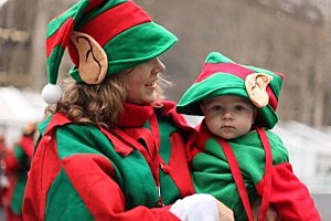 Mom and Baby as Elves pic