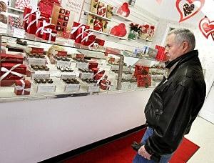 Valentine's Day shopper
