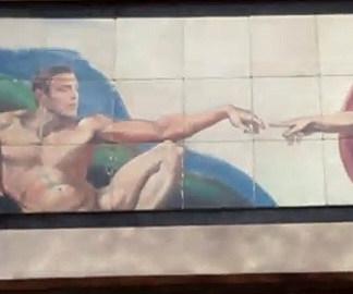 George Clooney Mural