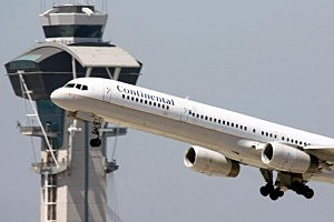 Continental Plane Takes Off