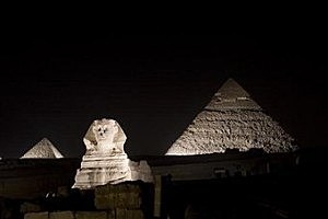 Earth Hour in Cairo, Egypt