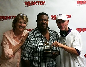 Chubby Carrier and his Grammy Award with CJ and Debbie Ray