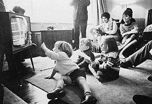 Picture of family watching television