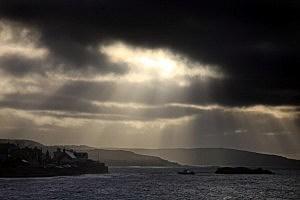 Sun's Rays Through Clouds