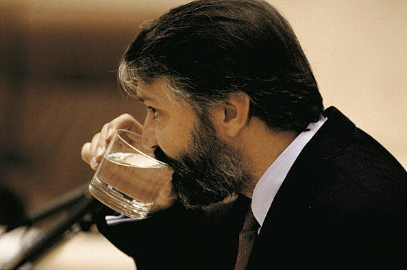 Picture of Jaime Blanco, drinking a glass of water