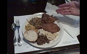 Abacus lunch buffet plate