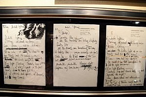 Handwritten Lyrics By Jimi Hendrix