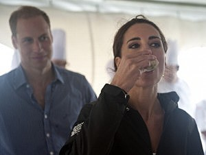 Duchess Kate eats an oyster