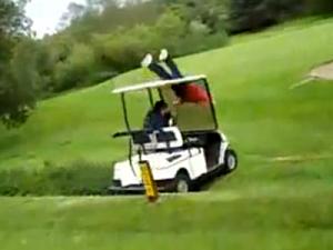 Golf Cart Planking Fail