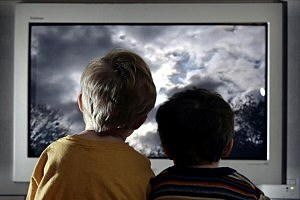 Children Watch Television At Home pic