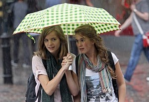 Girls with umbrella pic