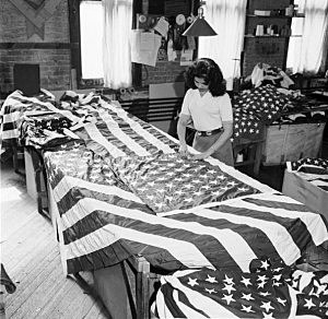 Picture of a flag factory