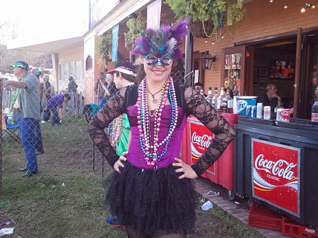 Pretty Mardi Gras Gal