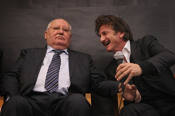 Mikhail Gorbachev and Sean Penn