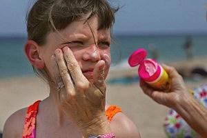 Sunscreen application