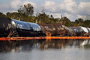Hurricane Isaac Railroad Cars Braithwaite