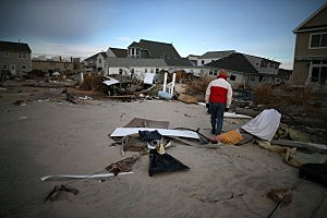 Sandy aftermath on the Jersey Shore
