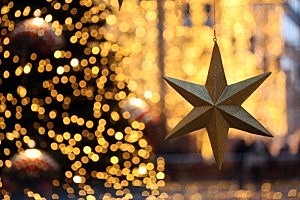 gold star and tree
