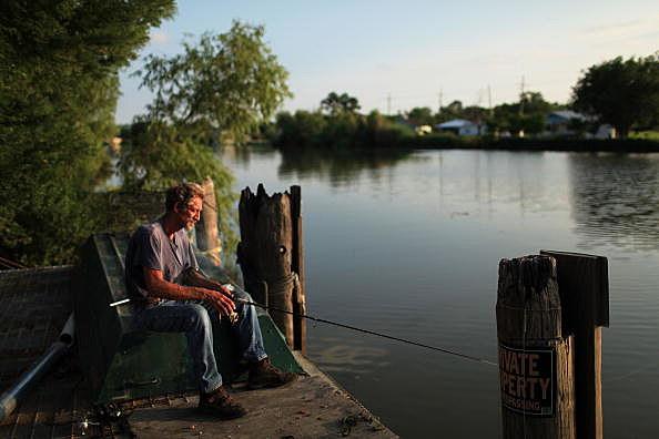 Cajun Man Fishing
