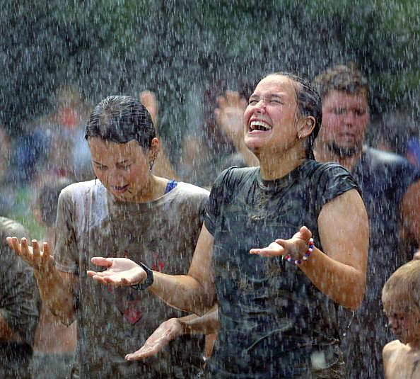Kids Celebrate Mud Day In Michigan