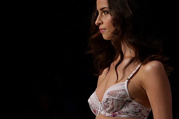 Woman Modeling A Bra