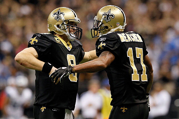 Drew Brees #9 and  Robert Meachem #17