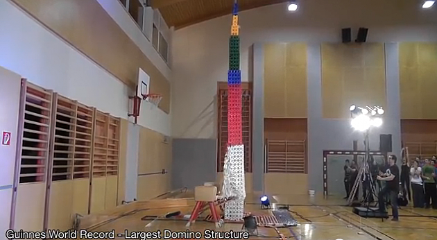 Tallest Domino Structure