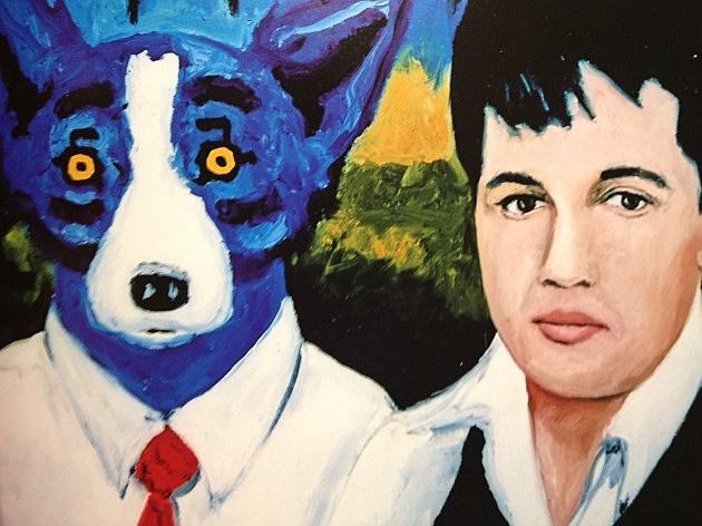 Blue Dog and Elvis