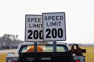 200 MPH Speed Signs