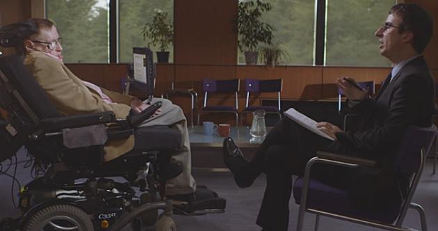 Stephen Hawking & John oliver