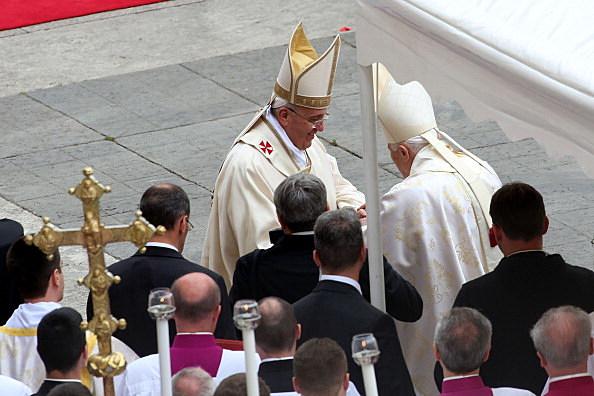 Pope Francis, Pope Emeritus Benedict XVI