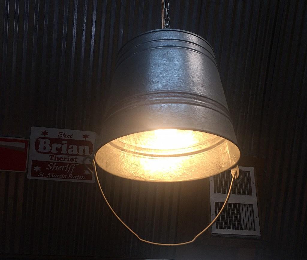 Unique Bucket Light Fixture Idea [PHOTO]