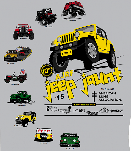 Th Anniversary Jeep Jaunt TShirt Design Unveiled - Jeep t shirt design