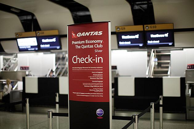 Qantas Planes Sit Grounded At Heathrow